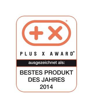 Plus X award - bestes             Produkt
